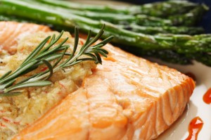salmon, kosher-style.