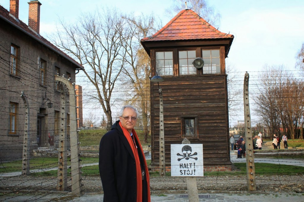 Mohammed Dajani at Auschwitz in March 2014.