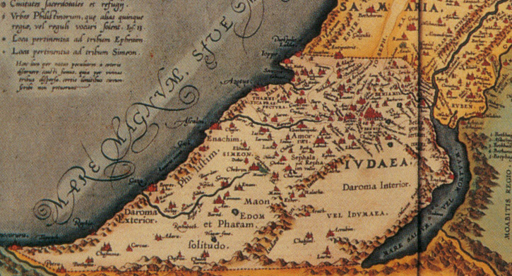 Map of the Kimdoms of Judah and Israel