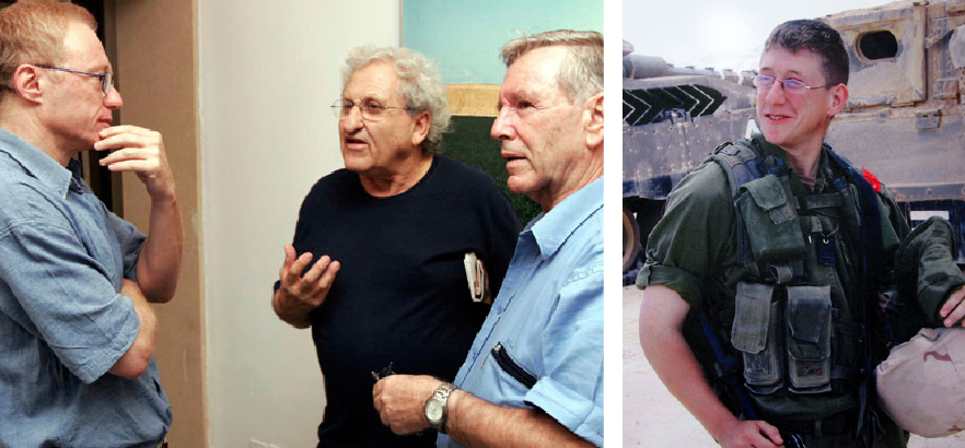 Above left: David Grossman talks with fellow Israeli writers A.B. Yehoshua and Amos Oz during a press conference where they publicly urged the government to end the war in Lebanon on August 10, 2006 in Tel Aviv. Two days later, Grossman's son, Israeli army Staff Sergeant Uri Grossman, aged 20 (above right), was killed by an anti-tank missile in a major ground offensive against Hezbollah fighters in southern Lebanon. © Getty Images