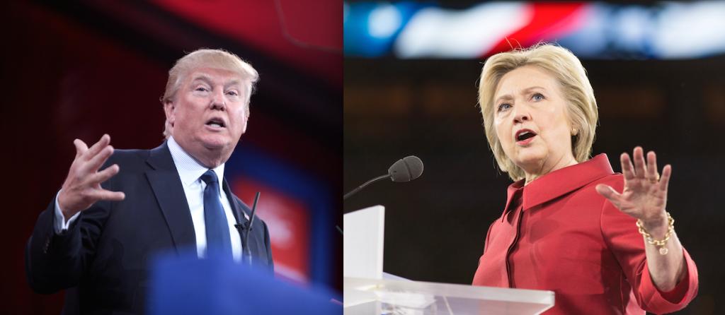 Trump-Clinton campaigning