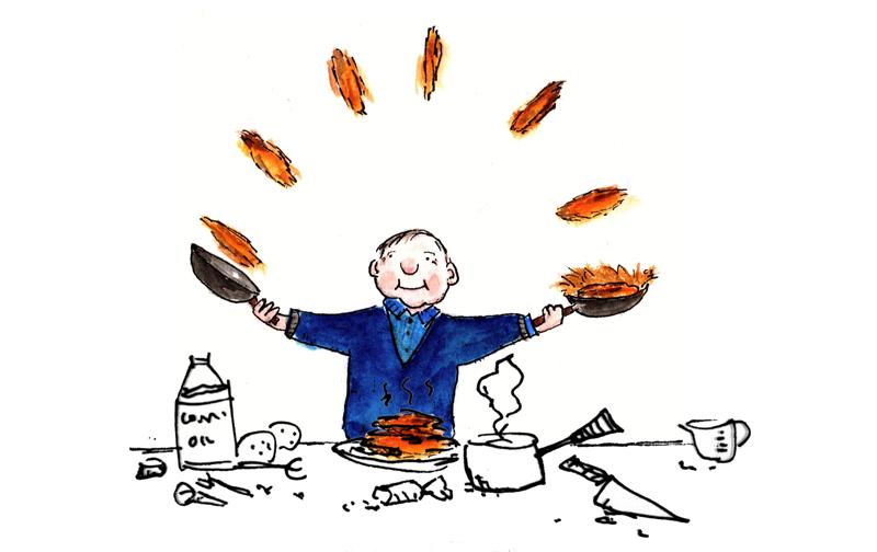cooking latkes cartoon