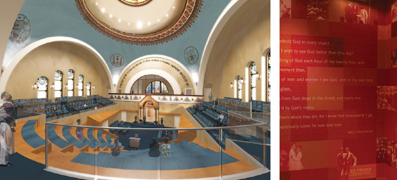 Modern day synagogues feature modern day architecture.