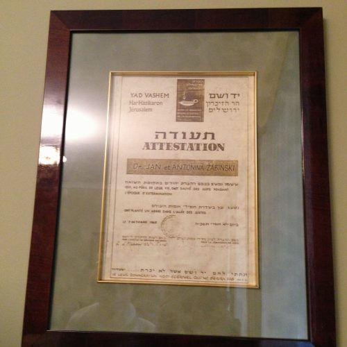 In 1965, the couple was recognized as Righteous Among the Nations for saving Jews during the Holocaust.
