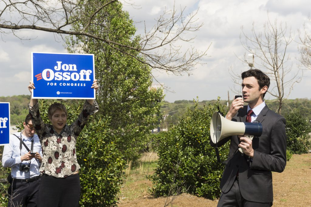 Jon Ossof during his 2017 congressional campaign
