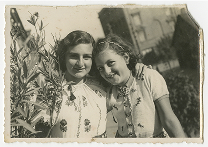 Annushka's daughters, Frida (left) and Bella (recovered from album smuggled out of Kovno ghetto during the Holocaust).