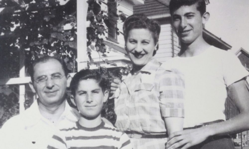 Philip Roth and his family in Newark.