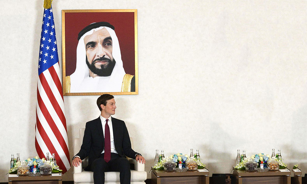Presidential senior adviser Jared Kushner visited Abu Dhabi as part of the joint U.S.-Israeli delegation in August.
