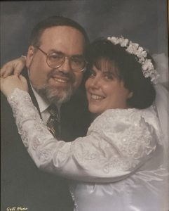 The couple at their wedding in Baltimore