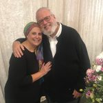 The author and her husband at a family wedding