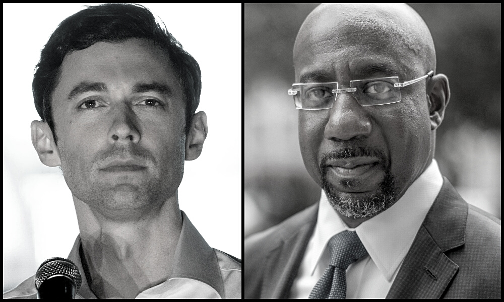 Jon Ossoff and the Reverend Raphael Warnock