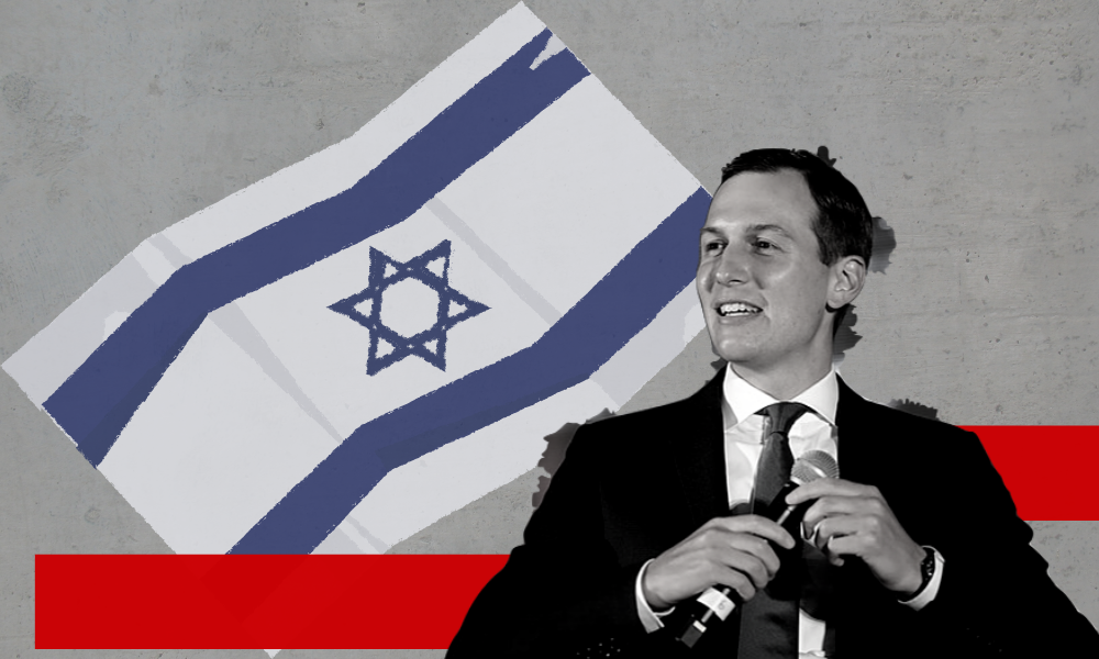 Jared Kushner and an Israeli Flag
