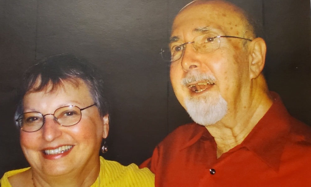 Anne and Marv Bonowitz, 2010, Columbus, Ohio. They were married in Brooklyn, New York from June 25, 1961 until Marv's death in 2018.