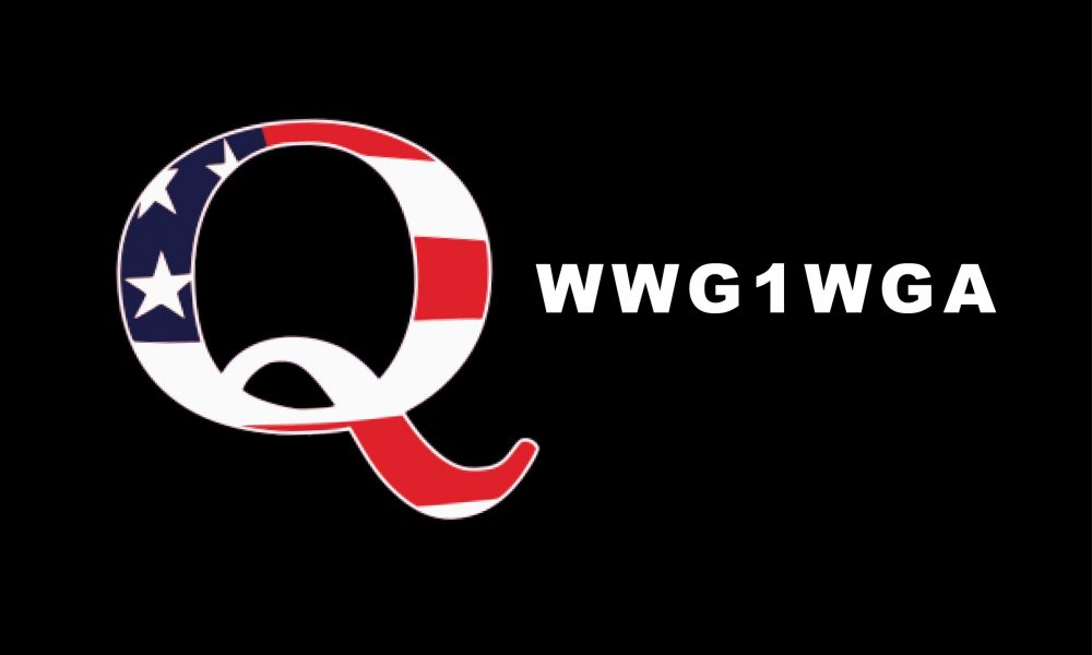 QAnon logo and slogan