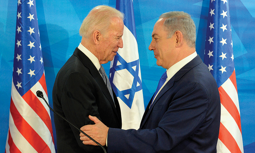 Biden and Israeli PM Netanyahu