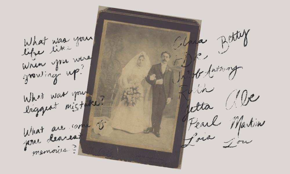 Jewish author Judith Viorst's grandparents, Clara and Nathan Ehrenkranz, on their wedding day.