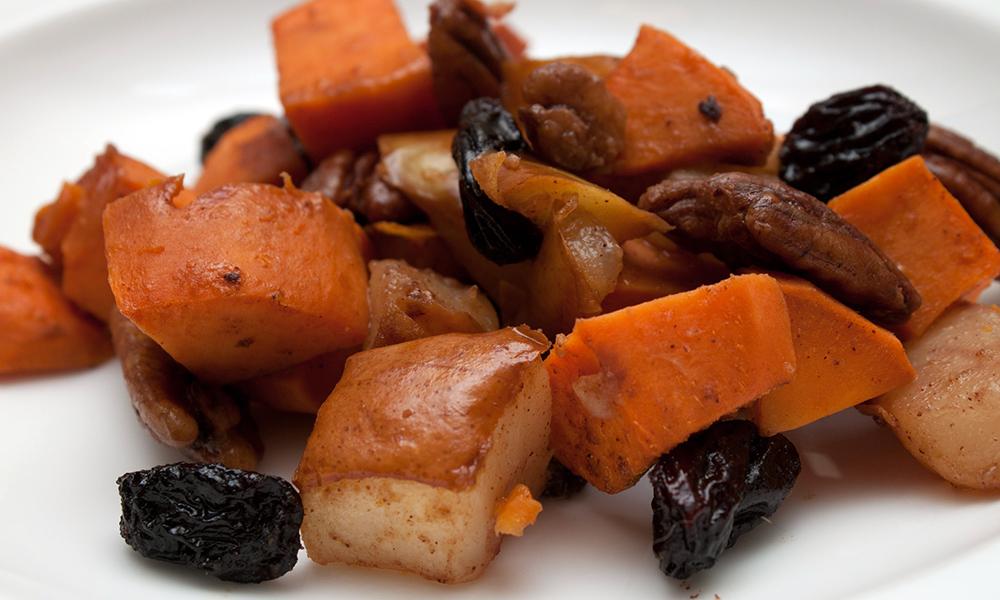 Tzimmes sweet potato pear date