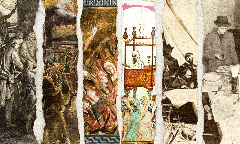 Jewish observance of Passover during persecution including the Crusades, Inquisition, the Plague, Civil War, Warsaw Ghetto, concentration camps,