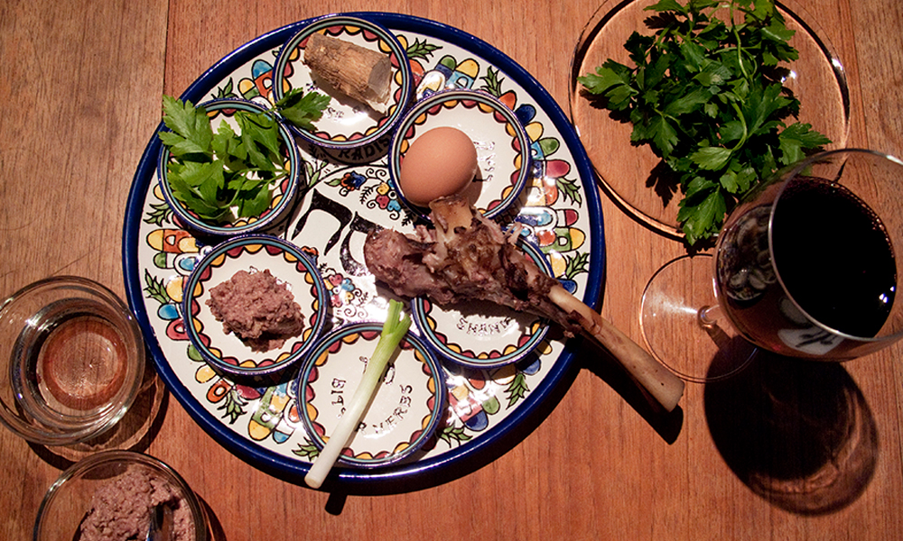Passover seder menu including recipes and food essays