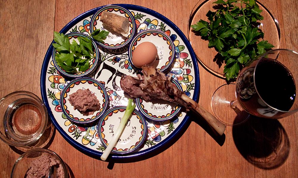 Passover seder menu including recipes and food essays