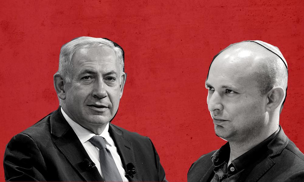 Benjamin Netanyahu and Naftali Bennett