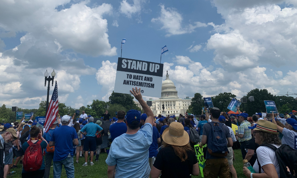 Rally against antisemitism at the U.S. Capitol