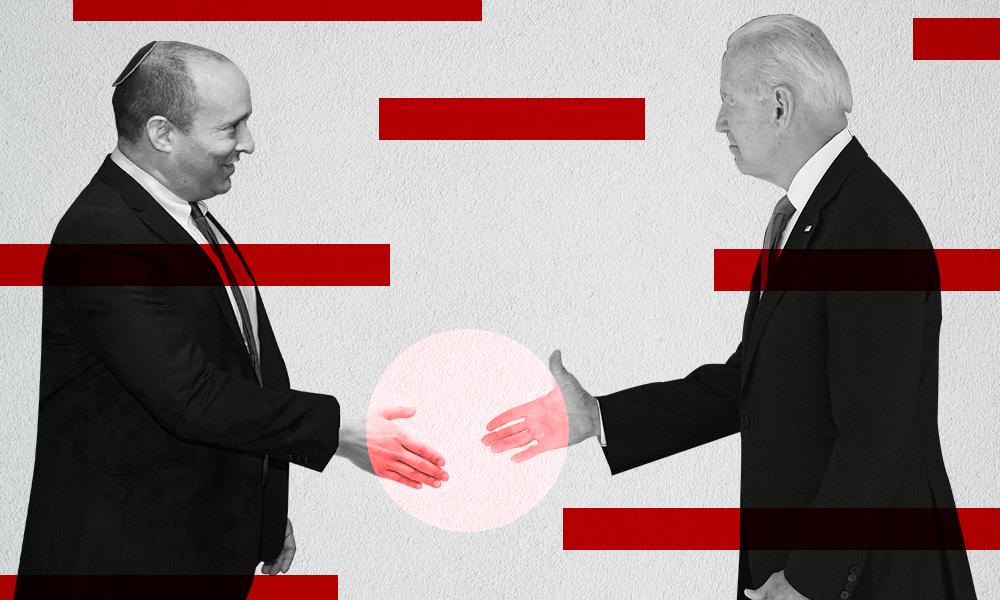 Israeli Prime Minister Naftali Bennett meets with President Biden