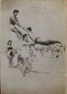 Erwin at Brighton Beach in 1946
