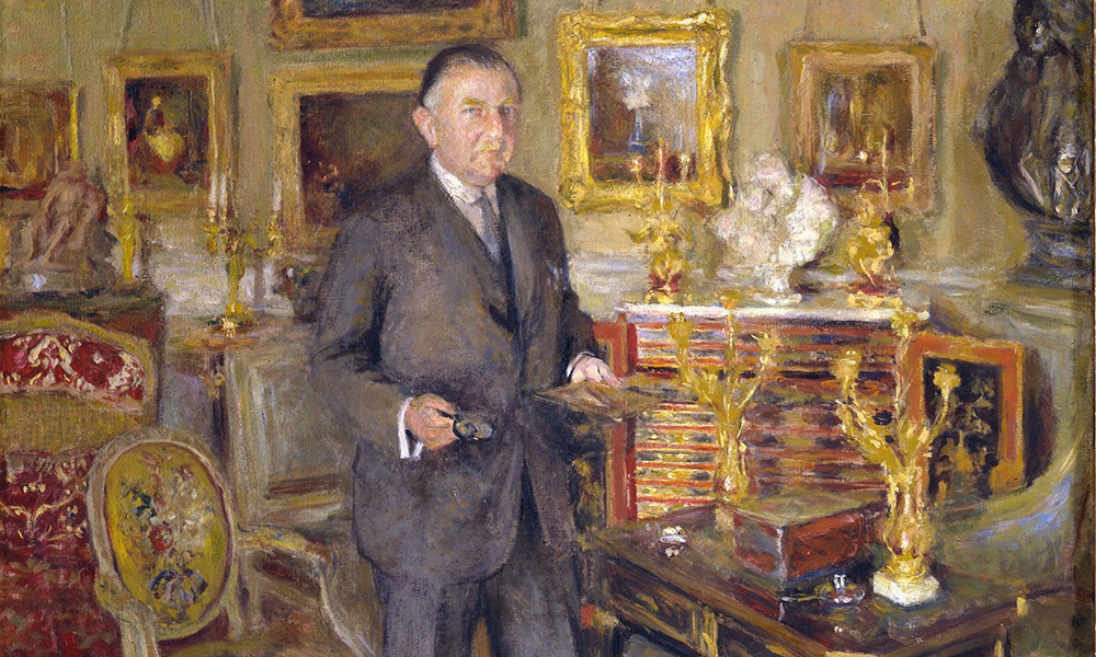 Portrait of David David-Weill who owned some of Piece Bonnard's work.